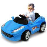 Mini-Carro-Eletrico-Infantil-Azul-6V-3-Quilometros-Por-Hora-Suporta-Ate-25Kg-connectparts--1-