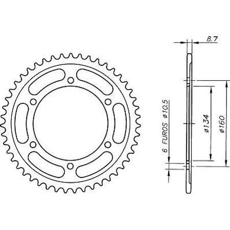 Coroa-Temperada-HONDA-CBR1000RR-FIREBLADE-2004-A-2005-HA15.143T-VAZ-Connect-Parts-2