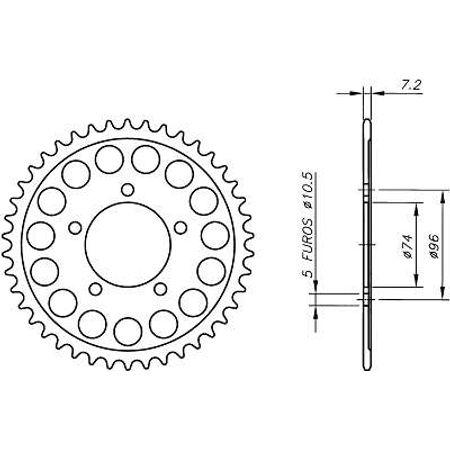 Coroa-Temperada-HONDA-CBR400RRH-Todos-Anos-HA08.245T-VAZ-Connect-Parts-2