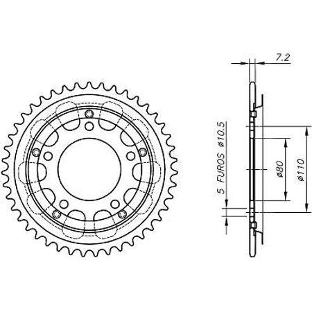 Coroa-Temperada-HONDA-CBR450SR-1989-A-1995-HA08.442T-VAZ-Connect-Parts-2