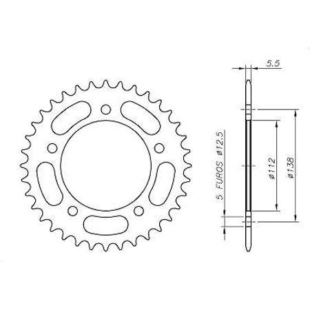 Coroa-Temperada-HONDA-CBR600F-520-1991-A-1998-HA19.144T-VAZ-Connect-Parts-2