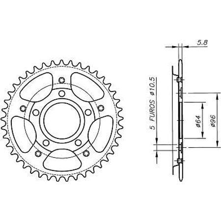 Coroa-Temperada-HONDA-CBX200-1995-A-2003-HA06.345T-VAZ-Connect-Parts-2
