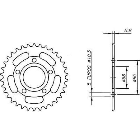 Coroa-Temperada-HONDA-CRM125-R-1990-A-1999-HA05.338T-VAZ-Connect-Parts-2