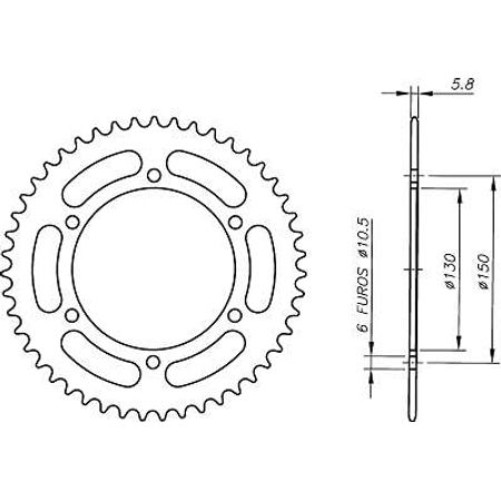 Coroa-Temperada-HONDA-FMX650-2005-A-2008-HA08.148T-VAZ-Connect-Parts-2