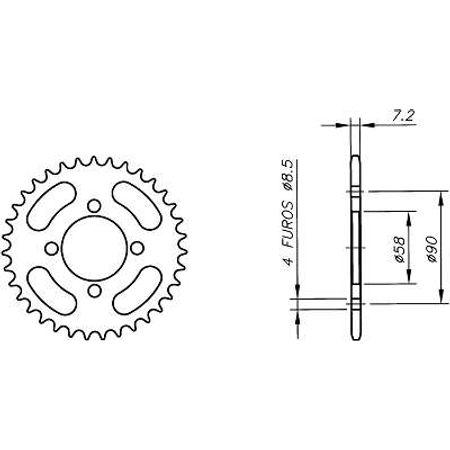 Coroa-Temperada-HONDA-MB100-Todos-Anos-HA02.535T-VAZ-Connect-Parts-2