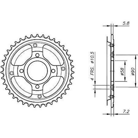 Coroa-Temperada-HONDA-MBX125-Todos-Anos-HA06.138T-VAZ-Connect-Parts-2