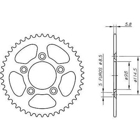 Coroa-KTM-KTM60-1998-A-2001-DA06.450-VAZ-Connect-Parts-2