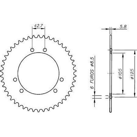 Coroa-MARCHIO-SENDA-R-50-420-2000-A-2003-DA08.545-VAZ-Connect-Parts-2