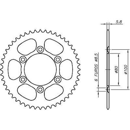 Coroa-RIEJU-SPIKE50-1999-A-2005-CA09.348-VAZ-Connect-Parts-2