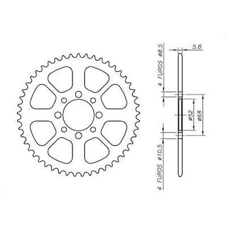 Coroa-SUZUKI-DR50-Todos-Anos-SA09.143-VAZ-Connect-Parts-2