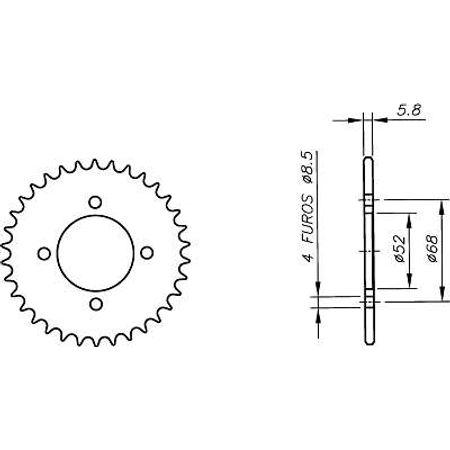 Coroa-SUZUKI-LT50-QUADRICICLO-1984-A-1989-SA01.134-VAZ-Connect-Parts-2