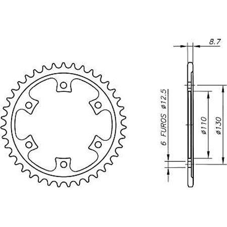 Coroa-Temperada-BOMBARDIER-DS650-Todos-Anos-DA09.541T-VAZ-Connect-Parts-2