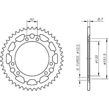 Coroa-Temperada-CAGIVA-ELEFANT750-1995-A-1995-CA01.446T-VAZ-Connect-Parts-2