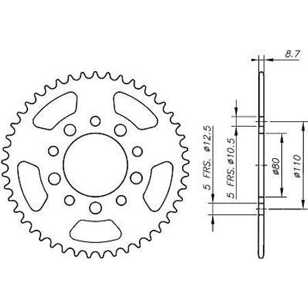 Coroa-Temperada-HONDA-CB1000-1993-A-1996-HA10.545T-VAZ-Connect-Parts-2