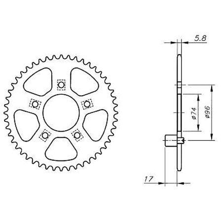 Coroa-Temperada-HONDA-NSR250-7L-N-8L-N-9L-N-Todos-Anos-HA16.240T-VAZ-Connect-Parts-2