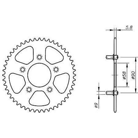 Coroa-Temperada-HONDA-NXR125R-FR-FP-1993-A-2002-HA13.335T-VAZ-Connect-Parts-2