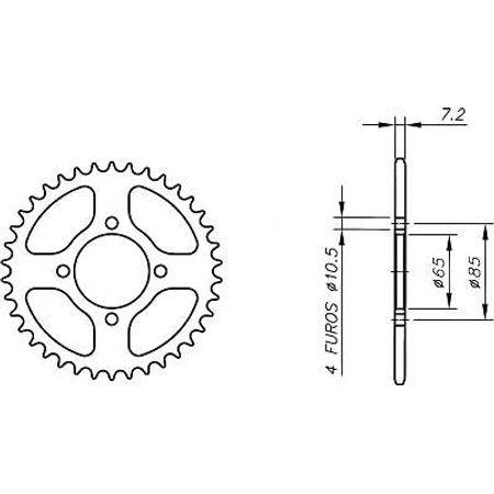 Coroa-Temperada-HONDA-SANYANG-WOLF-125-Todos-Anos-HA14.137T-VAZ-Connect-Parts-2