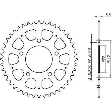 Coroa-Temperada-HONDA-VT600-SHADOW-1990-A-2004-HA21.444T-VAZ-Connect-Parts-2