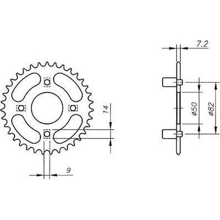 Coroa-Temperada-HONDA-XL100SB-SC-SD-SE-PEG-1981-A-1983-HA11.442T-VAZ-Connect-Parts-2