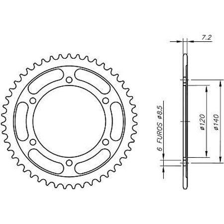Coroa-Temperada-HONDA-XL250R-BAJA-428-1991-A-1991-HA14.450T-VAZ-Connect-Parts-2
