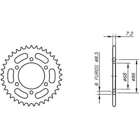 Coroa-Temperada-KAWASAKI-BN125-A1-A7-ELIMINATOR-1998-A-2004-KA02.146T-VAZ-Connect-Parts-2