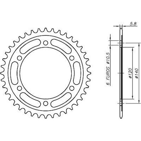 Coroa-Temperada-KAWASAKI-EN500C1-C10-VULCAN-1996-A-2005-KA07.242T-VAZ-Connect-Parts-2
