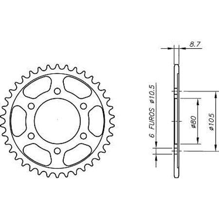 Coroa-Temperada-KAWASAKI-GPZ550-ZX550H1-H2-1982-A-1983-KA04.145T-VAZ-Connect-Parts-2