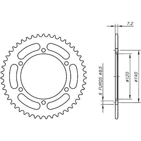Coroa-Temperada-KAWASAKI-KE175D1-D2-1979-A-1980-KA06.544T-VAZ-Connect-Parts-2