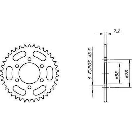 Coroa-Temperada-KAWASAKI-KH100G5-G8-EX-1984-A-1992-KA01.436T-VAZ-Connect-Parts-2