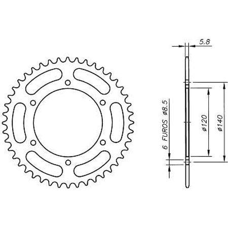 Coroa-Temperada-KAWASAKI-KL250A3-A4-C1-C2-1979-A-1985-KA03.239T-VAZ-Connect-Parts-2