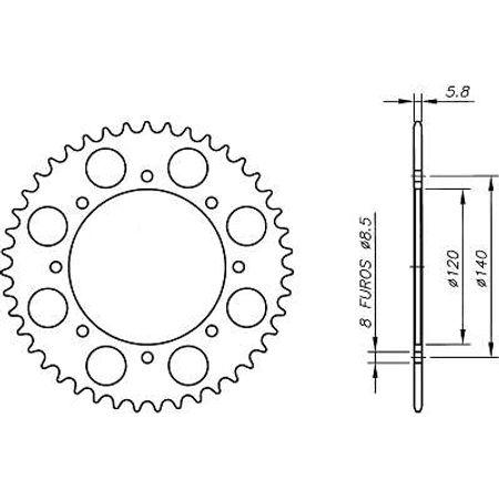 Coroa-Temperada-KAWASAKI-KLE500A1-A6-1991-A-1996-KA03.443T-VAZ-Connect-Parts-2