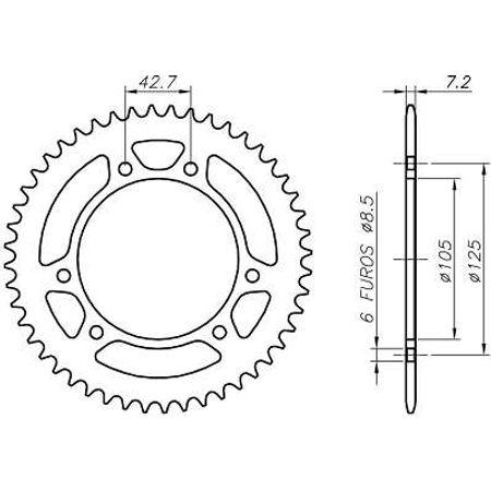 Coroa-Temperada-MALAGUTI-CRW125-MOTARD-428-2003-A-2004-CA08.262T-VAZ-Connect-Parts-2