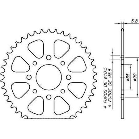 Coroa-Temperada-Preta-KTM-DUKE200-2012-A-2014-DA23.442TB-VAZ-Connect-Parts-2