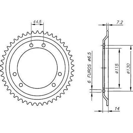 Coroa-Temperada-DERBI-SENDA-50-428-Todos-Anos-DA08.448T-VAZ-Connect-Parts-2