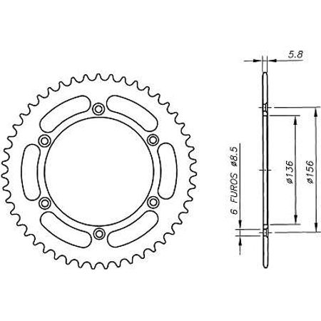 Coroa-Temperada-GAS-GAS-ENDUROCROSS125-Todos-Anos-DA04.351T-VAZ-Connect-Parts-2