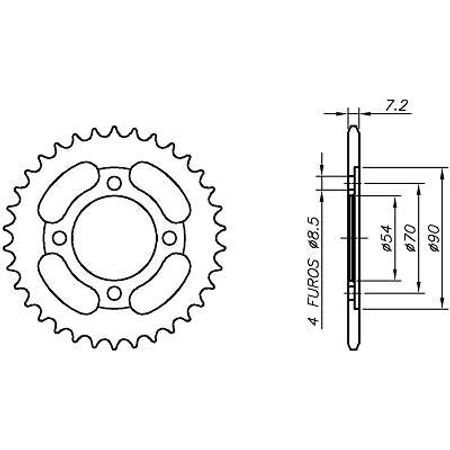Coroa-Temperada-HONDA-C100-DREAM-Ate-1998-HA03.334T-VAZ-Connect-Parts-2