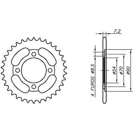 Coroa-Temperada-HONDA-C100-DREAM-Ate-1998-HA03.335T-VAZ-Connect-Parts-2