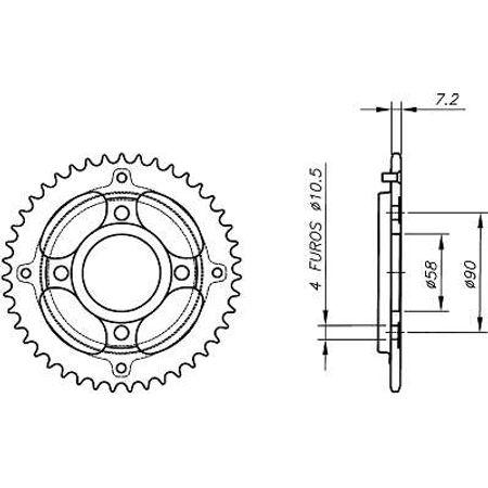 Coroa-Temperada-HONDA-CG125-TODAY-1984-A-1999-HA04.238T-VAZ-Connect-Parts-2
