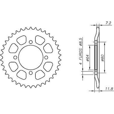 Coroa-Temperada-HONDA-CGL125-Todos-Anos-HA20.538T-VAZ-Connect-Parts-2