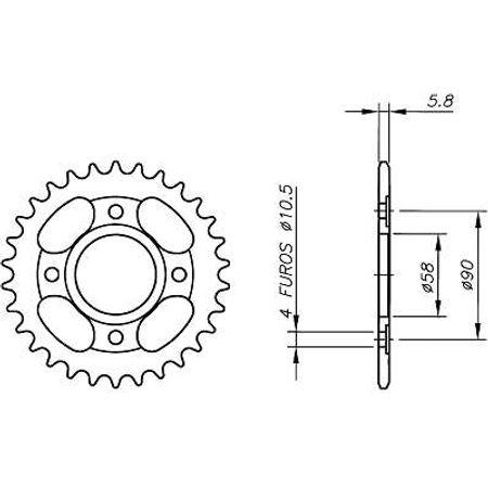 Coroa-Temperada-HONDA-CMX250-REBEL-1985-A-2000-HA13.133T-VAZ-Connect-Parts-2