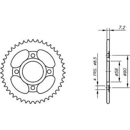 Coroa-Temperada-HONDA-XR100R-1985-A-2003-HA04.445T-VAZ-Connect-Parts-2
