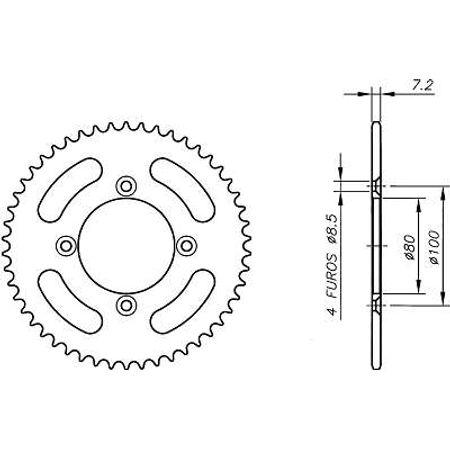 Coroa-Temperada-HONDA-XR100RF-G-H-J-K-L-M-N-P-R-S-T-V-W-X-Y-1985-A-2000-HA03.438T-VAZ-Connect-Parts-2