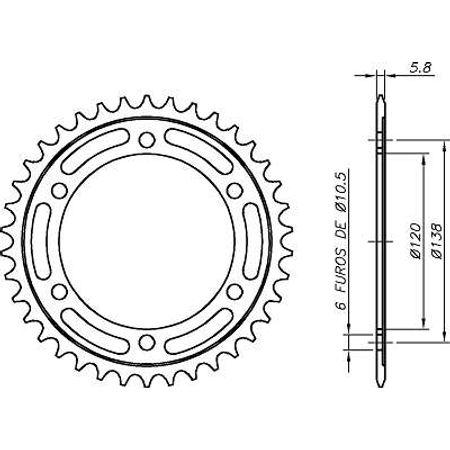 Coroa-Temperada-Preta-HONDA-CBR250R-2011-A-2013-HA22.338TB-VAZ-Connect-Parts-2