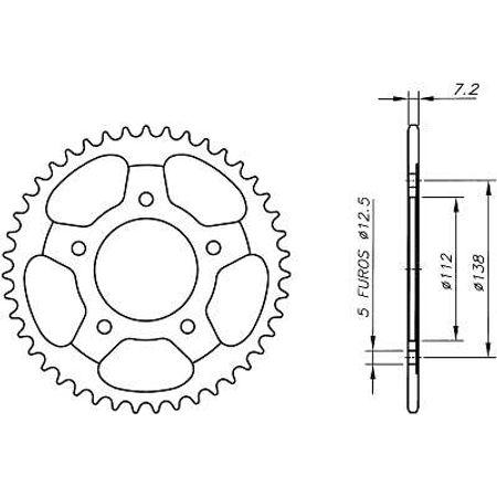 Coroa-Temperada-Preta-HONDA-CBR600F-HORNET-1997-A-2007-HA11.542TB-VAZ-Connect-Parts-2