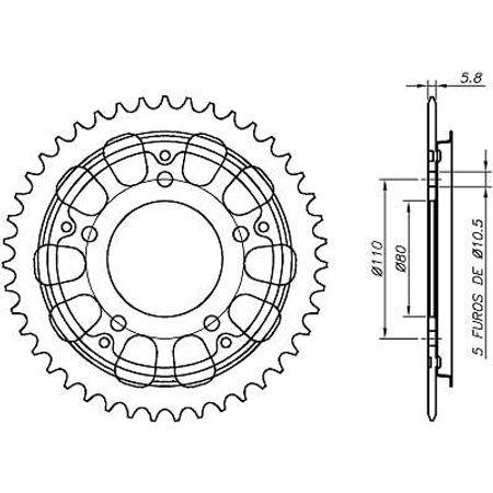 Coroa-Temperada-sem-Capa-HONDA-CBR450SR-520-1992-A-1995-HA22.243S-VAZ-Connect-Parts-2