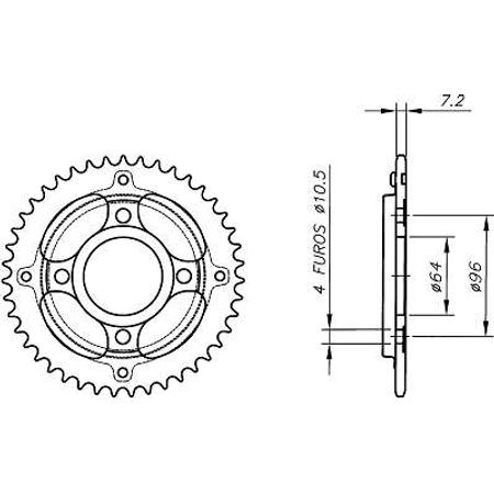 Coroa-Temperada-sem-Capa-HONDA-CG125-CARGO-1995-A-2004-HA13.550S-VAZ-Connect-Parts-2