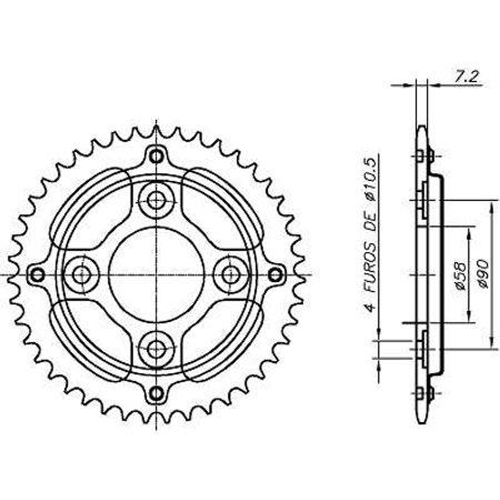 Coroa-Temperada-sem-Capa-HONDA-CG125-FAN-2009-A-2009-HA22.146S-VAZ-Connect-Parts-2