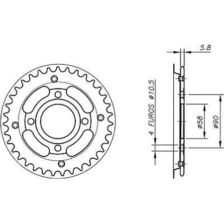 Coroa-Temperada-sem-Capa-HONDA-NS125R-Todos-Anos-HA05.433S-VAZ-Connect-Parts-2