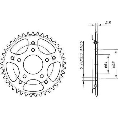 Coroa-Temperada-HONDA-CB300R-2009-A-2009-HA17.341T-VAZ-Connect-Parts-2