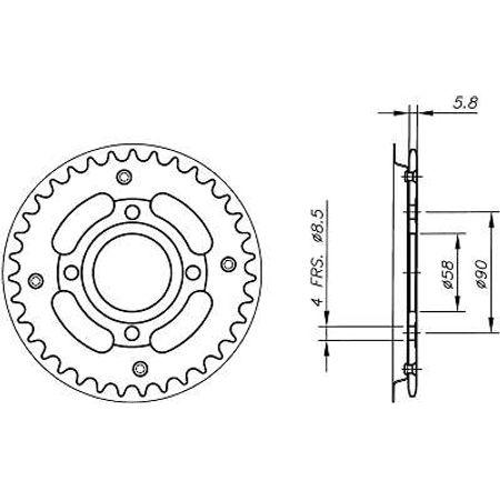 Coroa-Temperada-HONDA-CB200-1976-A-1979-HA05.537T-VAZ-Connect-Parts-2